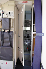 The first faa approved armoured cockpit door for 737 door design